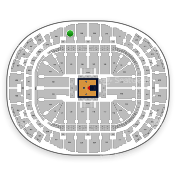 BIG3 at AmericanAirlines Arena Section 307 View