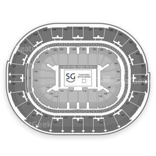 Smoothie King Center Seating Chart Family