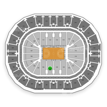 New Orleans Pelicans at Smoothie King Center Section 101 View