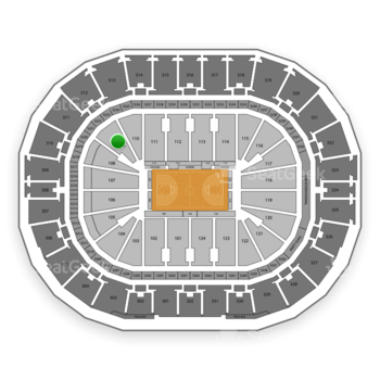 New Orleans Pelicans at Smoothie King Center Section 109 View