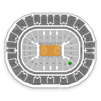 New Orleans Pelicans at Smoothie King Center Section 121 View