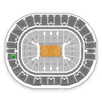 New Orleans Pelicans at Smoothie King Center Section 307 View