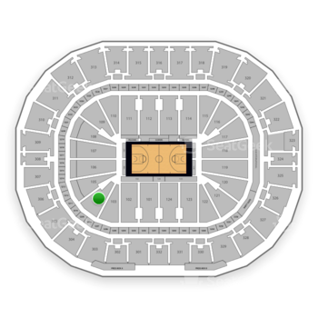 New Orleans Pelicans at Smoothie King Center Section 104 View