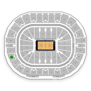 New Orleans Pelicans at Smoothie King Center Section 306 View