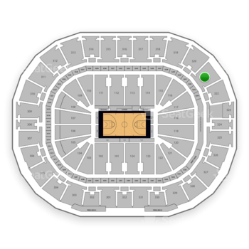 New Orleans Pelicans at Smoothie King Center Section 321 View