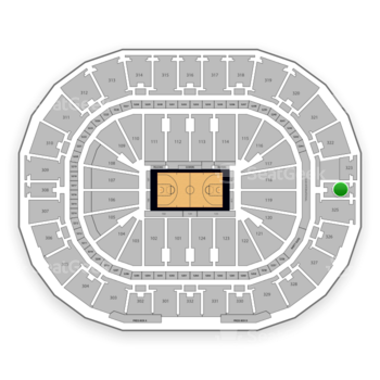 New Orleans Pelicans at Smoothie King Center Section 324 View