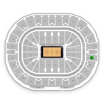 New Orleans Pelicans at Smoothie King Center Section 325 View