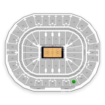 New Orleans Pelicans at Smoothie King Center Section 329 View