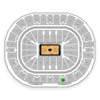 New Orleans Pelicans at Smoothie King Center Section 330 View