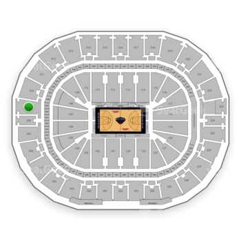 New Orleans Pelicans at Smoothie King Center Section 309 View