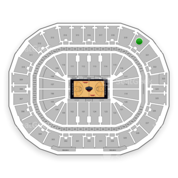 New Orleans Pelicans at Smoothie King Center Section 320 View