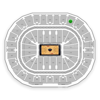 New Orleans Pelicans at Smoothie King Center Section 319 View
