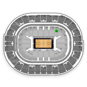 NBA All Star Game at Smoothie King Center Section 103 View