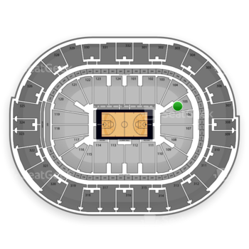 NBA All Star Game at Smoothie King Center Section 105 View