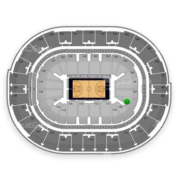 NBA All Star Game at Smoothie King Center Section 108 View