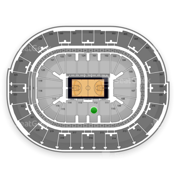 NBA All Star Game at Smoothie King Center Section 112 View
