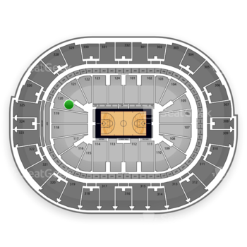 NBA All Star Game at Smoothie King Center Section 120 View