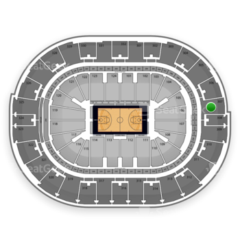 NBA All Star Game at Smoothie King Center Section 307 View