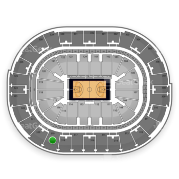 NBA All Star Game at Smoothie King Center Section 319 View