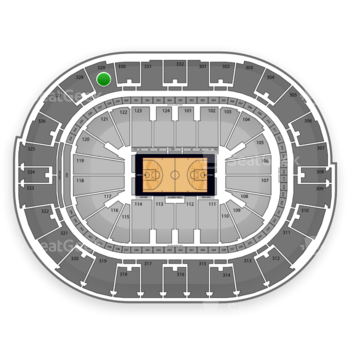 NBA All Star Game at Smoothie King Center Section 329 View