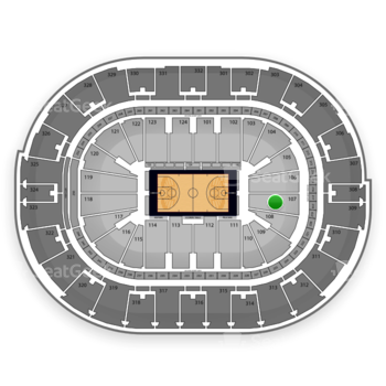 NBA All Star Saturday Night at Smoothie King Center Section 107 View