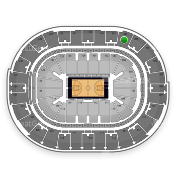 NBA All Star Saturday Night at Smoothie King Center Section 303 View