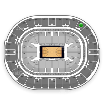 NBA All Star Saturday Night at Smoothie King Center Section 304 View