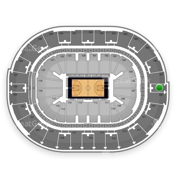 NBA All Star Saturday Night at Smoothie King Center Section 308 View