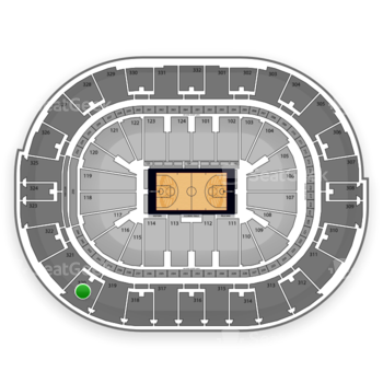 NBA All Star Saturday Night at Smoothie King Center Section 320 View
