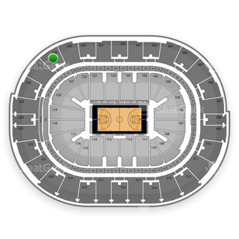 NBA All Star Saturday Night at Smoothie King Center Section 328 View