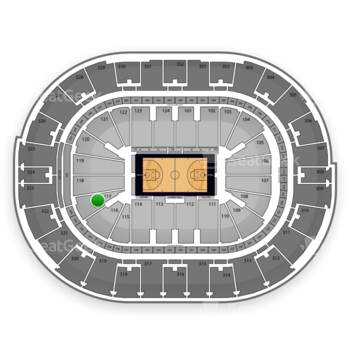 NBA at Smoothie King Center Section 117 View