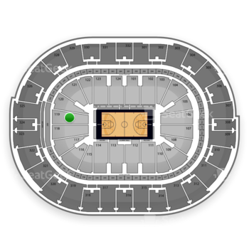 NBA at Smoothie King Center Section 119 View