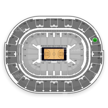 NBA at Smoothie King Center Section 306 View