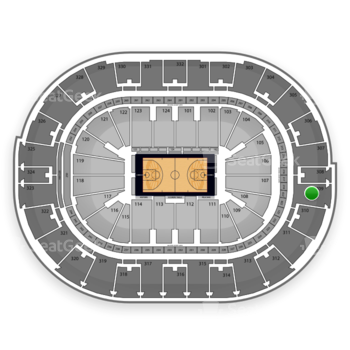 NBA at Smoothie King Center Section 309 View