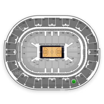 NBA at Smoothie King Center Section 313 View