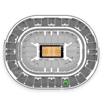 NBA at Smoothie King Center Section 314 View