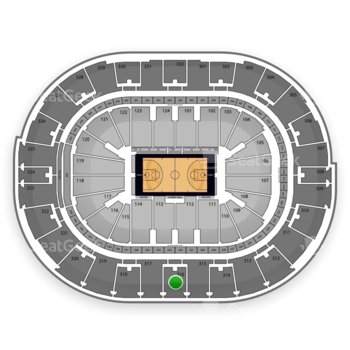 NBA at Smoothie King Center Section 316 View