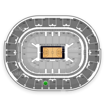 NBA at Smoothie King Center Section 317 View