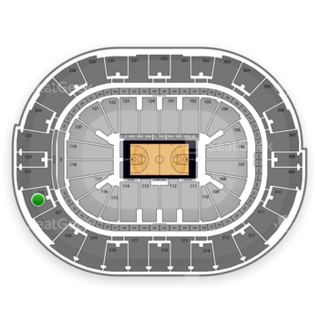 NBA at Smoothie King Center Section 322 View