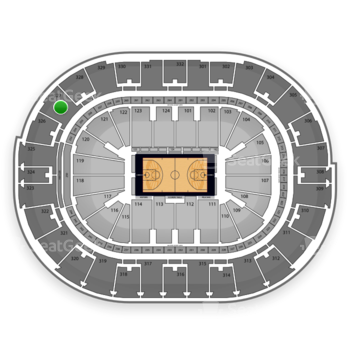 New Orleans Pelicans at Smoothie King Center Section 327 View