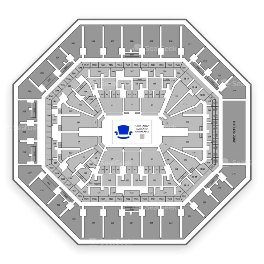 AT&T Center Seating Chart Parking
