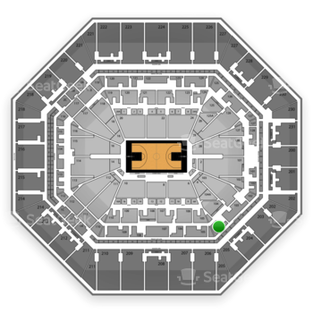 San Antonio Spurs at AT&T Center Section 104 View