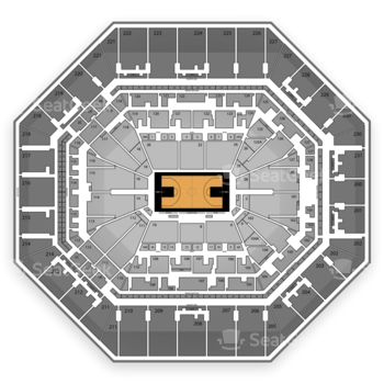 San Antonio Spurs at AT&T Center Balcony 206 View
