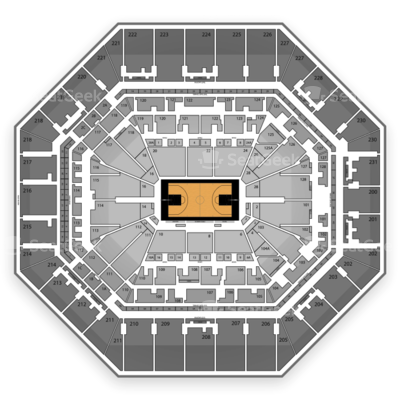 AT&T Center seating chart San Antonio Spurs