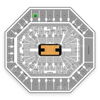 San Antonio Spurs at AT&T Center Section 206 View