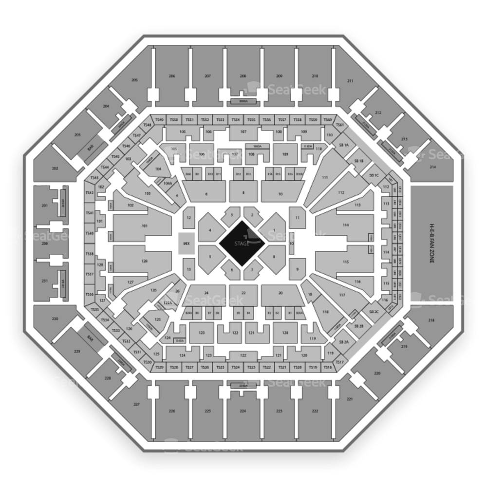 AT&T Center Seating Chart Comedy