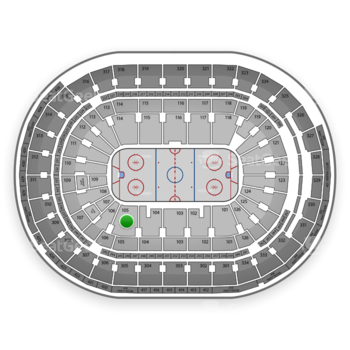 St. Louis Blues at Scottrade Center Section 105 View