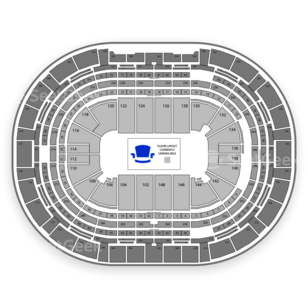 Pepsi Center Seating Chart Sports