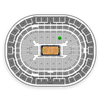 Denver Nuggets at Pepsi Center Section 104 View