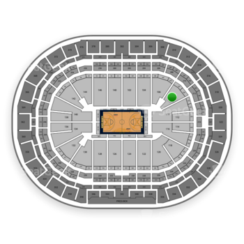 Denver Nuggets at Pepsi Center Section 108 View